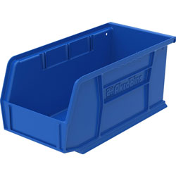 "Akro-Mills Akrobin, Unbreakable/Waterproof, 10 7/8""x5 1/2""x5"", Blue"