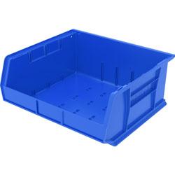 """Akro-Mills Akrobin, Unbreakable/Waterproof, 14 3/4""""x16 1/2""""x7"""", Blue"""