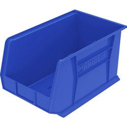 """Akro-Mills Akrobin, Unbreakable/Waterproof, 8 1/4""""x18""""x9"""", Blue"""