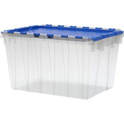 """Akro-Mills 12 Gallon Keep Box, 21 1/2""""x12 1/2""""x15"""", Clear/Blue"""