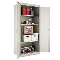 Alera Assembled 78 in High Storage Cabinet, w/Adjustable Shelves, 36w x 24d, Light Gray