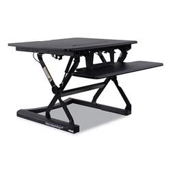 Alera AdaptivErgo Sit-Stand Lifting Workstation, 26.77w x 31.10d x 19.69h, Black