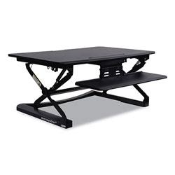 Alera AdaptivErgo Sit-Stand Lifting Workstation, 35.12w x 31.10d x 19.69h,Black