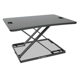 Alera AdaptivErgo Ultra-Slim Sit-Stand Desk, 31.33 in x 22 in x 15.75 in, Black