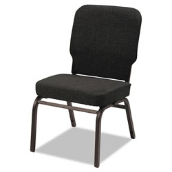 Alera Oversize Stack Chair without Arms, Fabric Upholstery, Black Seat/Black Back, Black Base, 2/Carton
