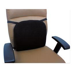 Alera Cooling Gel Memory Foam Backrest, 14.13 x 14.13 x 2.75, Black