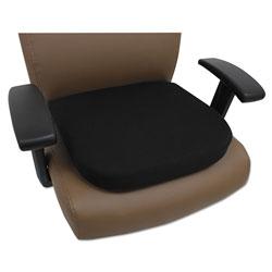 Alera Cooling Gel Memory Foam Seat Cushion, 16.5 x 15.75 x 2.75, Black