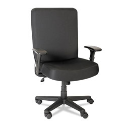 Alera XL Series Big and Tall High-Back Task Chair, Supports up to 500 lbs., Black Seat/Black Back, Black Base