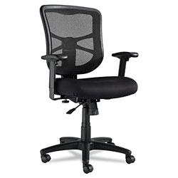 Alera Elusion Series Mesh Mid-Back Swivel/Tilt Chair, Supports up to 275 lbs., Black Seat/Black Back, Black Base