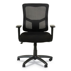Alera Elusion II Series Mesh Mid-Back Swivel/Tilt Chair with Adjustable Arms, Up to 275 lbs, Black Seat/Back, Black Base