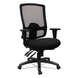 Alera Etros Series High-Back Multifunction with Seat Slide Chair, Supports up to 275 lbs, Black Seat/Black Back, Black Base