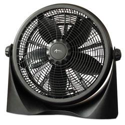 Alera 16 in Super-Circulation 3-Speed Tilt Fan, Plastic, Black