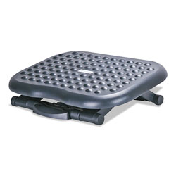 Alera Relaxing Adjustable Footrest, 13.75w x 17.75d x 4.5 to 6.75h, Black