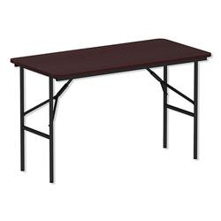 Alera Wood Folding Table, Rectangular, 48w x 23 7/8d x 29h, Mahogany