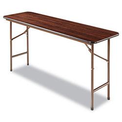 Alera Wood Folding Table, Rectangular, 59 7/8w x 17 3/4d x 29 1/8h, Mahogany