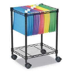 Alera Compact Rolling File Cart, 15.25w x 12.38d x 21h, Black