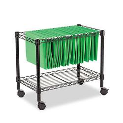 Alera Single-Tier Rolling File Cart, 24w x 14d x 21h, Black