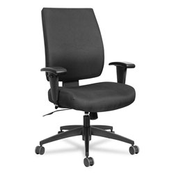 Alera Wrigley Series High Performance Mid-Back Synchro-Tilt Task Chair, Supports up to 275 lbs, Black Seat/Back, Black Base