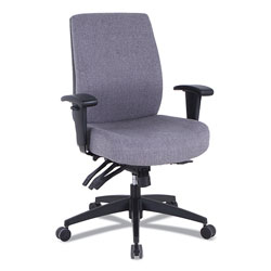 Alera Wrigley Series 24/7 High Performance Mid-Back Multifunction Task Chair, Up to 275 lbs, Gray Seat/Back, Black Base