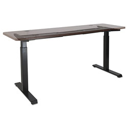 Alera 2-Stage Electric Adjustable Table Base, 27.5 in to 47.2 in High, Black