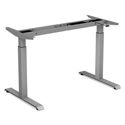 Alera 2-Stage Electric Adjustable Table Base, 27.5 in to 47.2 in High, Gray