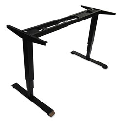 Alera AdaptivErgo 3-Stage Electric Table Base w/Memory Controls, 25 in to 50.7 in, Black