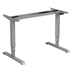 Alera AdaptivErgo 3-Stage Electric Table Base w/Memory Controls, 25 in to 50.7 in, Gray
