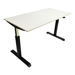 Alera AdaptivErgo Pneumatic Height-Adjustable Table Base, 26.18 in to 39.57 in, Black