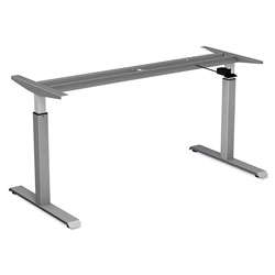 Alera AdaptivErgo Pneumatic Height-Adjustable Table Base, 26.18 in to 39.57 in, Gray