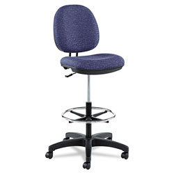 Alera Interval Series Swivel Task Stool, 33.26 in Seat Height, Supports up to 275 lbs, Marine Blue Seat/Marine Blue Back