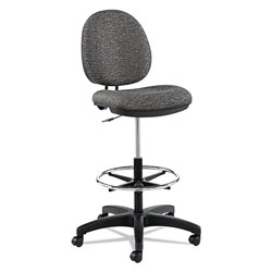 Alera Interval Series Swivel Task Stool, 33.26 in Seat Height, Supports up to 275 lbs, Graphite Gray Seat/Back, Black Base