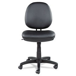 Alera Interval Series Swivel/Tilt Task Chair, Supports up to 275 lbs, Black Seat/Black Back, Black Base