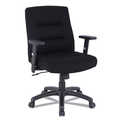 Alera Kesson Series Petite Office Chair, Supports up to 300 lbs., Black Seat/Black Back, Black Base