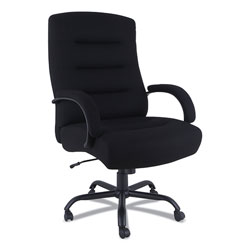Alera Kesson Series Big and Tall Office Chair, 25.4 in Seat Height, Supports up to 450 lbs., Black Seat/Black Back, Black Base