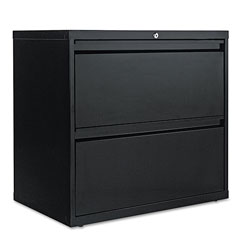 Alera Two-Drawer Lateral File Cabinet, 30w x 18d x 28h, Black