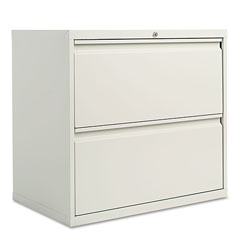 Alera Two-Drawer Lateral File Cabinet, 30w x 18d x 28h, Light Gray