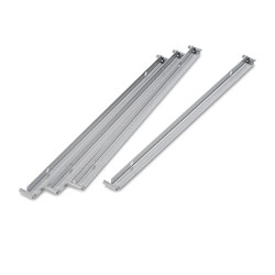 Alera Two Row Hangrails for 30 in or 36 in Files, Aluminum, 4/Pack
