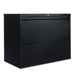 Alera Two-Drawer Lateral File Cabinet, 36w x 18d x 28h, Black