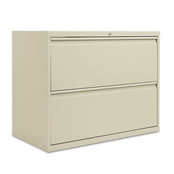 Alera Two-Drawer Lateral File Cabinet, 36w x 18d x 28h, Putty