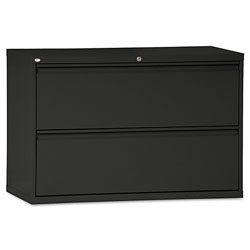 Alera Two-Drawer Lateral File Cabinet, 42w x 18d x 28h, Black