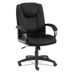 Alera Logan Series Mesh High-Back Swivel/Tilt Chair, Supports up to 275 lbs, Black Seat/Black Back, Black Base