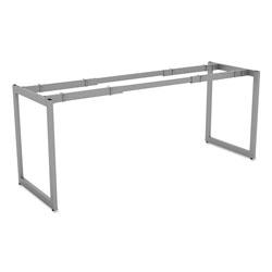 Alera Open Office Desk Series Adjustable O-Leg Desk Base, 24 in Deep, Silver