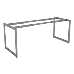 Alera Open Office Desk Series Adjustable O-Leg Desk Base, 30 in Deep, Silver