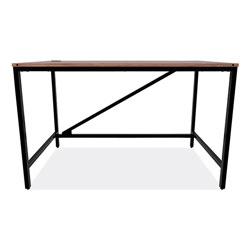Alera Industrial Series Table Desk, 47.25w x 23.63d x 29.5h, Modern Walnut