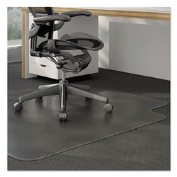 Alera Moderate Use Studded Chair Mat for Low Pile Carpet, 45 x 53, Wide Lipped, Clear