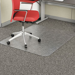 Alera Occasional Use Studded Chair Mat for Flat Pile Carpet, 46 x 60, Rectangular, Clear