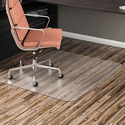Alera All Day Use Non-Studded Chair Mat for Hard Floors, 46 x 60, Rectangular, Clear