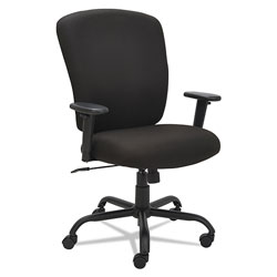 Alera Mota Series Big and Tall Chair, Supports up to 450 lbs, Black Seat/Black Back, Black Base