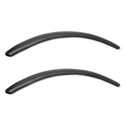 Alera Neratoli Series Replacement Arm Pads, Leather, 1.77w x .59d x 15.15h, Black, 1 Pair