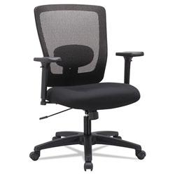 Alera Envy Series Mesh Mid-Back Swivel/Tilt Chair, Supports up to 250 lbs., Black Seat/Black Back, Black Base